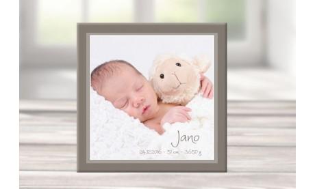 """Wandbild mit Geburtsdaten und Foto """"Jano"""""""