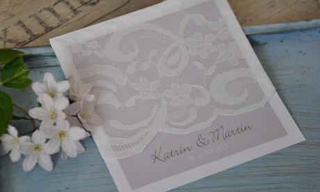 """Einladungskarten Hochzeit """"Vintage Spitze XXL"""""""