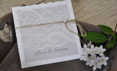 """Einladungskarten Hochzeit """"XXL Vintage Spitze"""""""