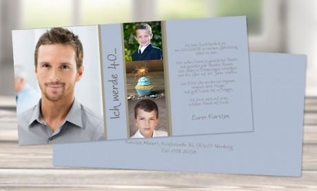 """Einladungskarten Geburtstag """"Collage"""""""