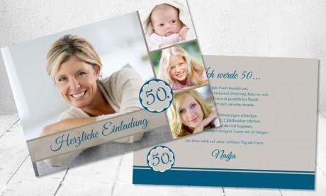 """Einladungskarten Geburtstag """"Fotocollage"""""""