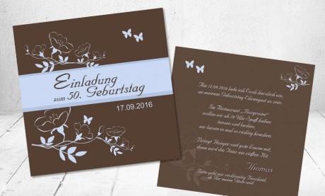 """Einladungskarten Geburtstag """"Runde 60 III"""""""