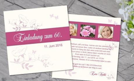 """Einladungskarten Geburtstag """"Runde 60"""""""