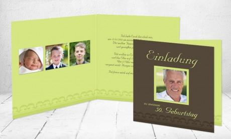 """Einladungskarte runder Geburtstag """"Auf mich"""""""