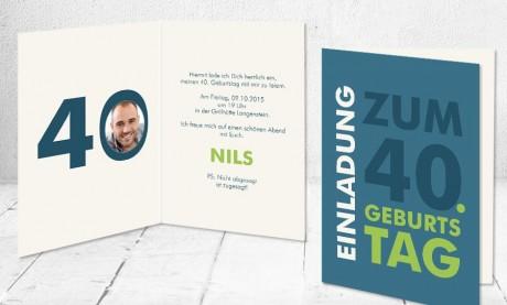 """Einladungskarte runder Geburtstag """"Feierlaune"""""""