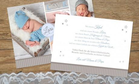 "Danksagungskarten Geburt ""Liebeszauber"""