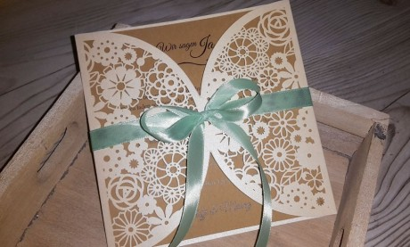 """Hochzeit Vintage Einladung """"Blütenzauber"""""""