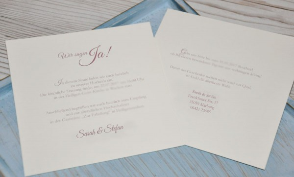 """Einladungskarten Hochzeit Vintage """"Edler Lasercut"""""""