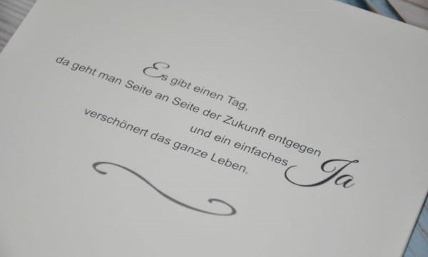 """Moderne Hochzeitseinladung """"Blümchen"""""""