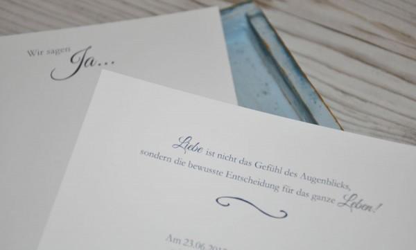 """Hochzeitseinladungen Spitze """"Edles Strumpfband"""""""