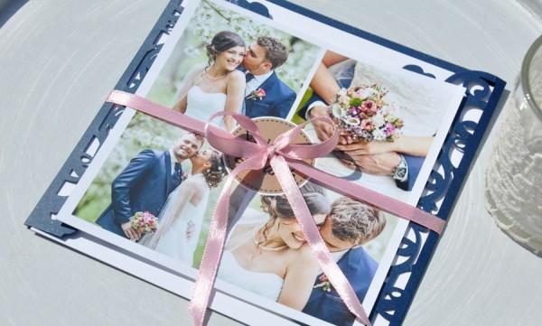 Danksagungskarte Hochzeit - Vintage Lasercut