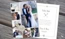 Dankeskarte Hochzeit - Vintageblumen