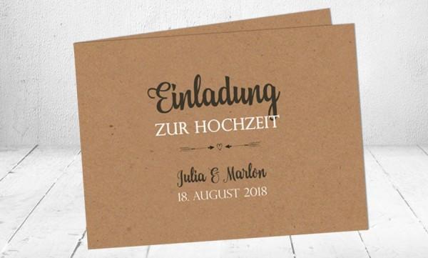 Hochzeitseinladungen Kraftpapier Vintage Einladungen