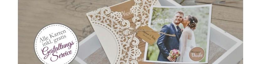 Hochzeitskarten mit Gestaltungsservice