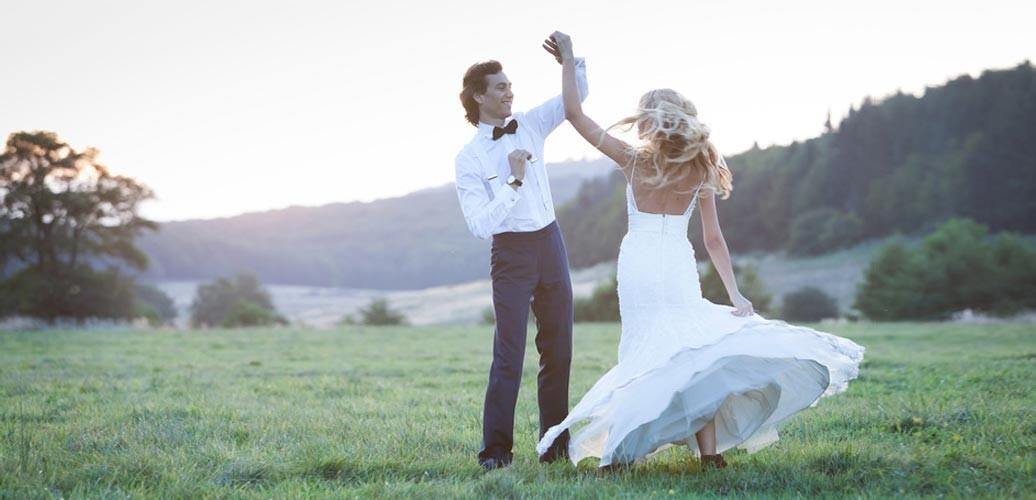 Dankeskarten Hochzeit Vintage mit Foto