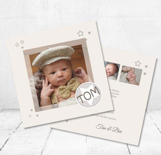 Dankeskarten Geburt, Babykarten