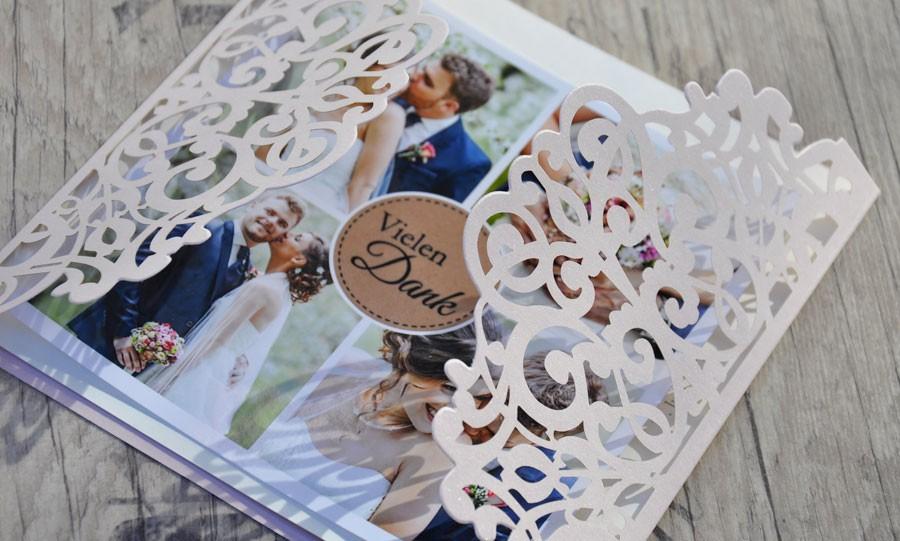 Hochzeit Dankeskarten - Traum in rosa